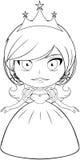 Princess Coloring Page 2. Vector illustration coloring page of a beautiful princess smiling vector illustration