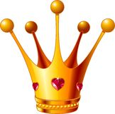 Princess crown. Beautiful illustration of a gold Princess crown Royalty Free Stock Photo