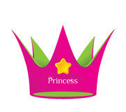 Princess crown. Colored crown of a fairy tale princess Stock Images
