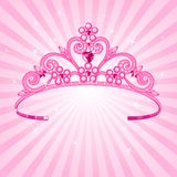 Princess Crown. Beautiful shining  princess crown on radial background Stock Photography