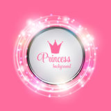 Princess Crown Background Vector Illustration. EPS10 Royalty Free Stock Photography