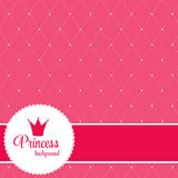 Princess Crown  Background Vector Illustration Royalty Free Stock Photography