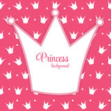 Princess Crown Background Vector Illustration. Stock Image
