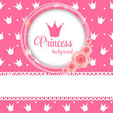 Princess Crown Background Vector Illustration. Pink Princess Crown Background Vector Illustration. EPS10 Stock Photos