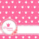 Princess Crown Background Vector Illustration. Royalty Free Stock Photo