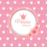 Princess Crown Background Vector Illustration. Royalty Free Stock Images