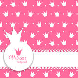 Princess Crown Background Vector Illustration. Royalty Free Stock Photos