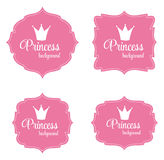 Princess Crown Frame Vector Illustration Royalty Free Stock Image