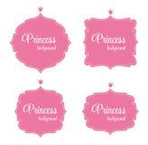 Princess Crown Frame Vector Illustration Stock Images