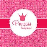 Princess Crown Frame Vector Illustration Stock Photos