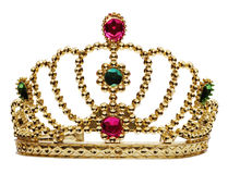 Princess crown isolated on white Royalty Free Stock Photography