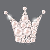 Princess Crown Pearl Background Vector Royalty Free Stock Image