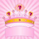 Princess Crown on radial  background Stock Images
