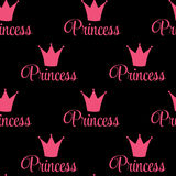Princess Crown Seamless Pattern  Background Vector Illustration. Stock Photos