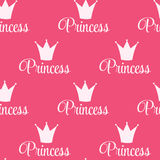 Princess Crown Seamless Pattern  Background Vector Illustration. Stock Images