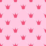 Princess Crown Seamless Pattern Background Vector Stock Image