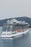 Princess Cruises. Cruise ship Regal Princess in Santorini, Greece royalty free stock photography