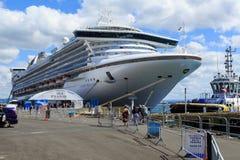 Cruise ship `Golden Princess` at Mount Maunganui, New Zealand stock photo