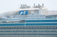 Princess Cruises. Royal Princess cruise ship funnel and logo royalty free stock photo