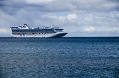 PRINCESS CRUISES SHIP. View Princess cruises ship in Punta Arenas, Chile stock images