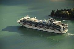 Princess cruises ship. Arial view Princess cruises ship sailing royalty free stock photography