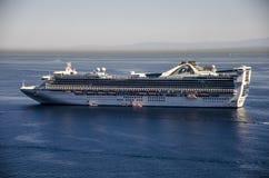 PRINCESS CRUISES SHIP, CATALINA ISLAND. View Princess cruises ship in Catalina Island, California stock photo