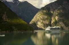 Princess cruises ship and mountains Royalty Free Stock Photo