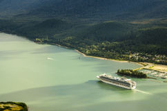 Princess cruises ship sailing from Juneu Alaska Royalty Free Stock Photos