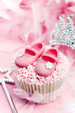 Princess cupcake. Cupcake decorated for a little princess Stock Photography