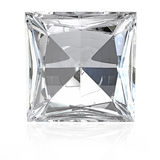 Princess cut diamond Stock Image