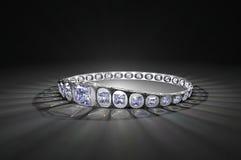Princess Cut Diamond Crown. An elegant silver crown set with princess cut diamonds Stock Photos