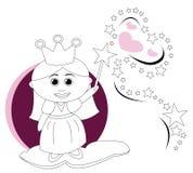princess czarodziejska magiczna różdżka Zdjęcia Royalty Free