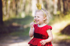 Princess and dandelion Royalty Free Stock Images
