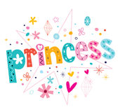 Princess. Decorative type lettering design Stock Photography