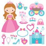 Princess design elements. Illustration of princess design elements Stock Photos