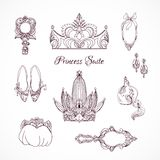 Princess design elements Royalty Free Stock Photo