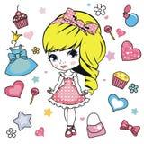 Princess design elements. Stock Photos