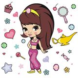 Princess design elements. Royalty Free Stock Images