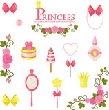 Princess design elements Royalty Free Stock Photography