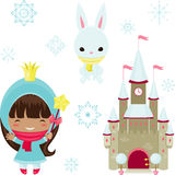 Princess design elements Royalty Free Stock Images