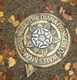 Princess Diana memorial guide plaque Royalty Free Stock Photography