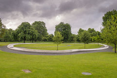 Princess Diana Memorial in Hyde Park London. This free entry unique Memorial to Diana, Princess of Wales was opened by Her Majesty The Queen on 6th July 2004 Royalty Free Stock Photography