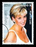 Princess Diana Postage Stamp. LAOS - CIRCA 2000: A postage stamp printed in Laos showing Princess Diana; circa 2000 Stock Images