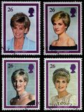 Princess Diana Postage Stamps Royalty Free Stock Photo