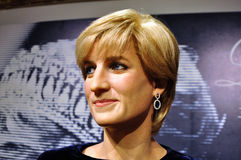 Princess Diana wax figure Stock Photography