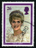 Princess Diana UK Postage Stamp Royalty Free Stock Images