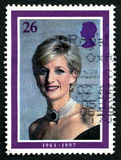 Princess Diana UK Postage Stamp Stock Photos