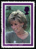 Princess Diana UK Postage Stamp Royalty Free Stock Image