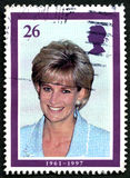 Princess Diana UK Postage Stamp Royalty Free Stock Photography