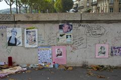 Princess Diana Wall Tribute, Paris Royalty Free Stock Photos